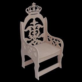 Banco Cadeira Mdf Coroa Princesa Príncipe Provençal