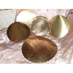 Bases P/tortas 8 Unidades Color Oro Dif Medidas