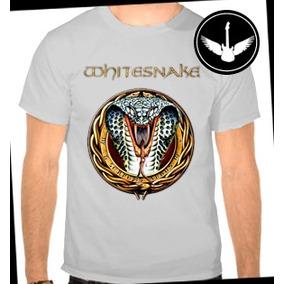 ae687c9a8 Whitesnake Camiseta - Camisetas Manga Curta no Mercado Livre Brasil