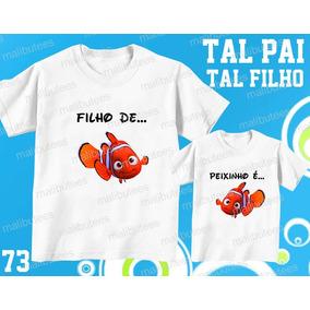 f28fbfc82e Camisetas Tal Pai Tal Filho Filho De Peixe Peixinho É - Calçados ...