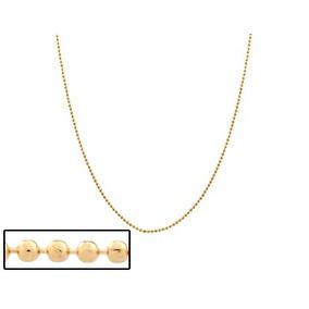 c5ebc247ef5ee Corrente Diamantada Fina,bolinha 40 Cm Ouro Rommanel 531096