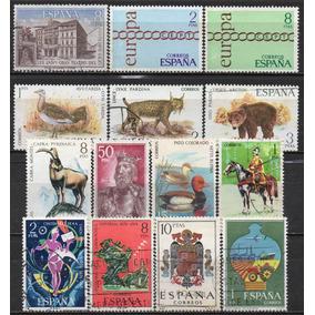 Espanha - Acumulação Com 14 Selos - 1970 A 1973