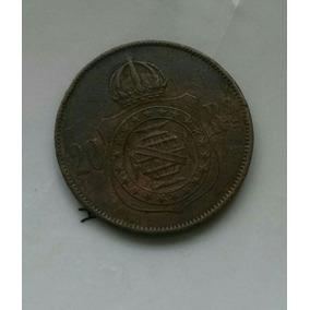 Rara Moeda De 20 Réis 1869