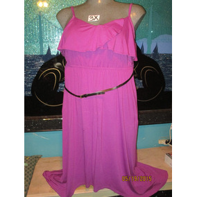 Vestido Largo Asimetrico Rosa Fucsia Precioso Talla 3x