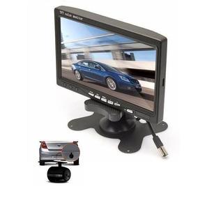Tela Monitor Veicular 7 Polegadas Colorida + Câmera De Ré