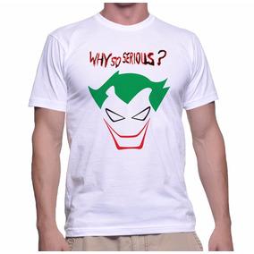 T-shirt Poliéster Coringa Why So Serious - Ref Edu20151001 32b94c33bcd