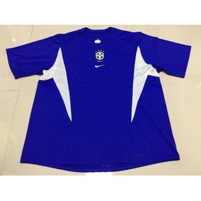 Camisa Nike Seleção Brasileira Futebol Oficial Azul Gg 052dab94d9c28