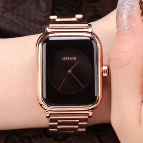 Guou 8162 Quartz Relógios Mulheres Senhoras Simples