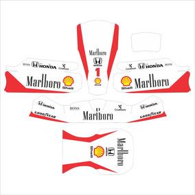 Adesivos Kart - Réplica Honda Mclaren F1 Senna Clássica