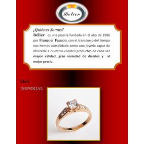 Precioso Anillo De Compromiso En Oro Rosa Y Plata 925