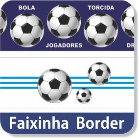 86e4d096d1 06 Faixas Adesivas Parede Border Esporte Futebol Soccer Gol. R  65