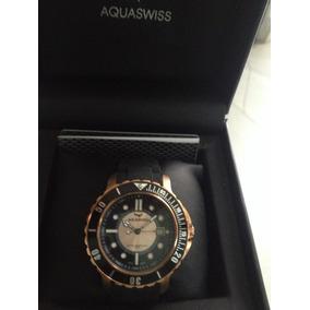 Aquaswiss Quartz Swiss 10atm Pvd Oro Rosa Caucho Ca Prototyp