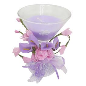 Vela Decorativa Media Festa 15 Anos Flor Enfeite Kit Com 12