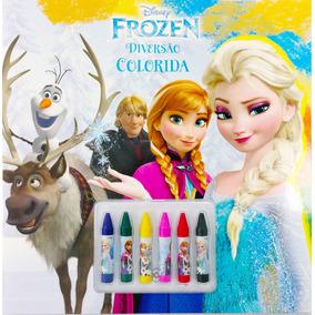 Livro Disney - Diversão Colorida - Frozen