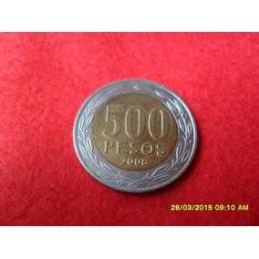 Chile 500 Pesos 2008 Bimetal Sob