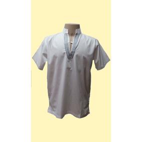 905ff67171 Camisa Masculina Branca Reveillon ´´ Bordado Cinza´´0073´´