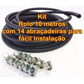 Kit Mangueira 8mm Injeção Eletronica 10 Mt Combustivel Preta
