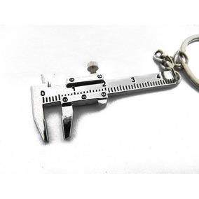 Miniatura Aço Paquimetro Inox 3d Chaveiro Que Funciona Régua