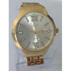 Relógio Dourado Masculino Original Dumont Frete Grátis