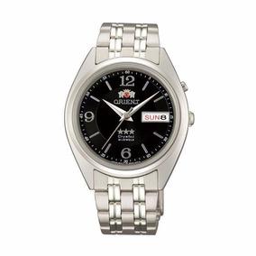 Relógio Orient Automático Aço Mostrador Preto Fem0401ub9
