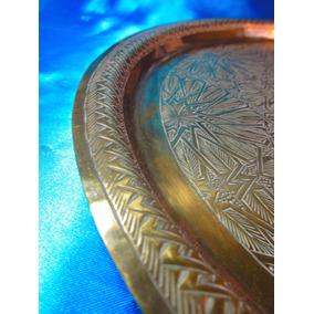 El Arcon Bandeja De Metal Labrado Y Cobre Martele 54507