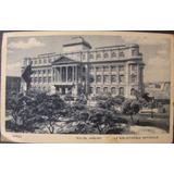 Cartão Postal Antigo Biblioteca Nacional Rio De Janeiro