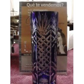 Florero Tallado Cristal Baccarat Azul (0020)