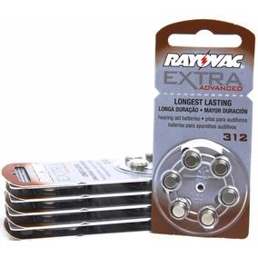 60 Baterias Pilhas Aparelho Auditivo 312 / Pr41 - Rayovac
