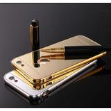 Estuche Protector Bumper Aluminio iPhone 7 Espejo De Lujo