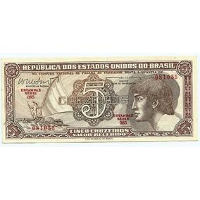 128 Cdl- Brasil 1 Cédula Índio Cr$.5,00 Cruzeiros 1962 C 112