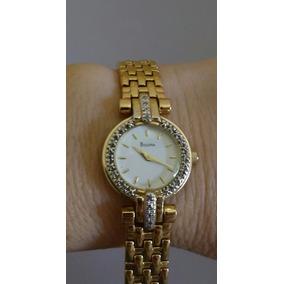292ded708d0 Relogio Bulova Plaque Ouro Aco - Relógios no Mercado Livre Brasil