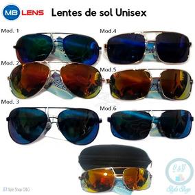 Lentes De Sol Espejado Mb Unisex Incluye Estuche Y Pañito 152eee575591