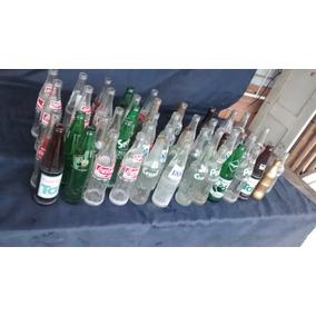 Lote Conjunto De 22 Garrafas De Refrigerante Usadas Vintage
