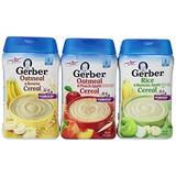 Gerber Bebé Cereal 3 Sabor Variety Bundle (1) La Harina De