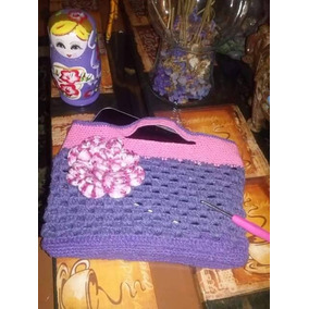 Bolso De Mano Tejido En Crochet En Algodon 20x16cm f933bd2fc9e