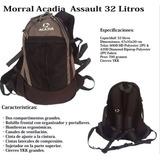 Bolso Morral Acadia Assault Urbano 32litros 100% Original