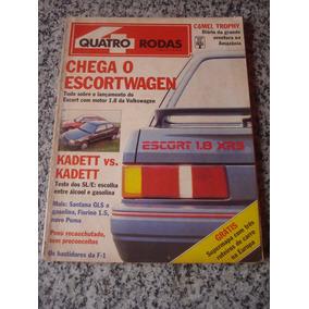 Revista Quatro Rodas 346 Kadett Xr3 Santana Corrado Puma Gte