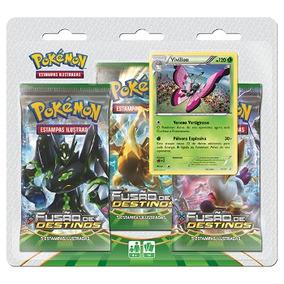 Pokémon Triple Pack Fusão De Destinos Vivillon Xy10