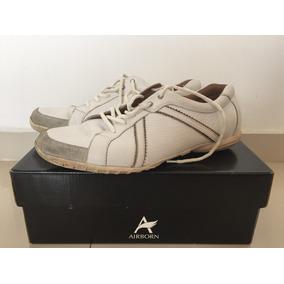 Zapatillas Hombre Cuero Blancas Airbone