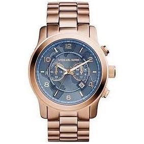 Relógio Michael Kors Rosé Com Fundo Azul Mk5410 Original! - Relógios ... 07dab76347