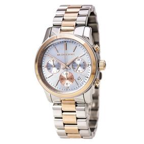2106f823ddc70 Michael Kors Runway Mk 5706 Crystal Pave Mk Gold Tone - Relógios De ...