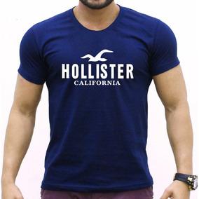 Camisa Hollister - Camisas Azul no Mercado Livre Brasil 973fae89b16d7