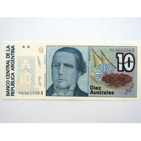 Cédula Nota De 10 Australes Da Argentina Fe Numismática L013