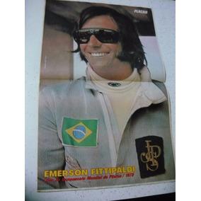 Placar 154 Poster Emerson Arns 1973 Com Figurinhas Mixto