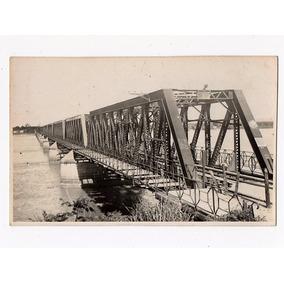 Cartao Postal Fotografico Ponte Ferroviaria Central D Brasil
