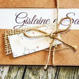65 Convites De Casamento Rústico Laço Sisal Juta Tag Kraft
