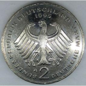Moeda Alemanha 2 Deutsche Mark 1995 A Ludwig Erhard Km# 170