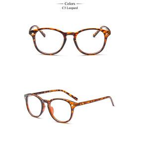 4d7bcf6ce5d45 Oculos De Grau Redondo Marrom Vintage Retr Anos 60 Style - Óculos no ...