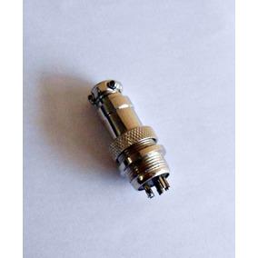 Plug Conector Modelo Gx16 Macho E Femea 5 Pinos