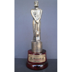Premio Estatuilla Martin Fierro Con Grabado Incluido 24cm
